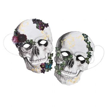 Baroque Skeleton Masks - pack of 8